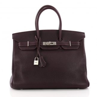 dca5da27cd2 ... Hermes Replica Birkin Handbag Bicolor Togo with Palladium Hardware 35  ...