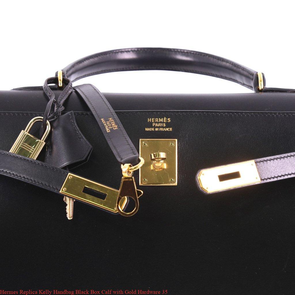 5954e3769e7 Hermes Replica Kelly Handbag Black Box Calf with Gold Hardware 35 – Hermes  Replica – Purchase New Hermes Belt Replica Bags